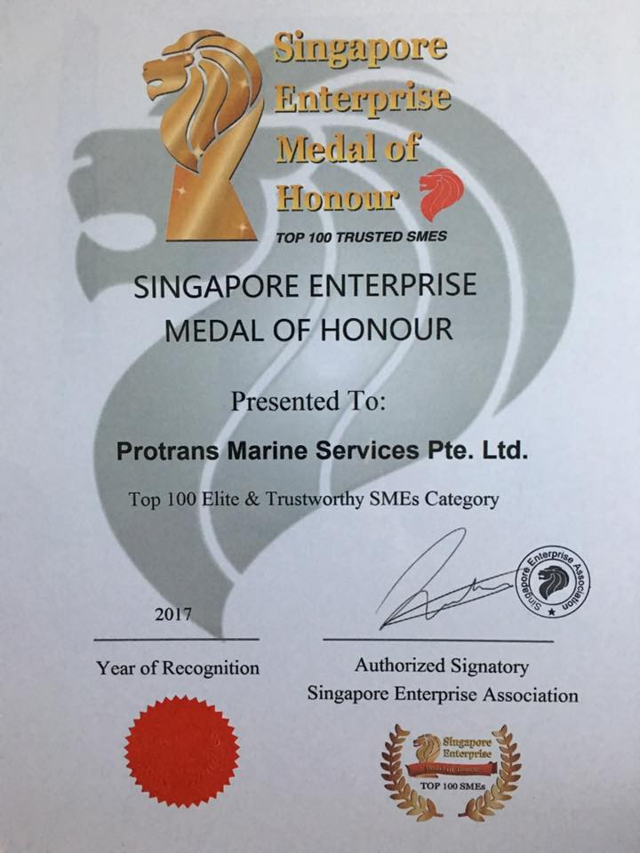 Singapore Enterprise Medal of Honour 2017 Ceremony- 11/11/2017